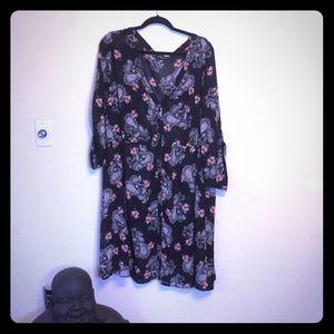 Torrid Black Paisley Chiffon Skater Dress Size 4